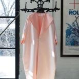 Coat by Maison Matthew Gallagher, Antique Coat Rack by 507 Antiques